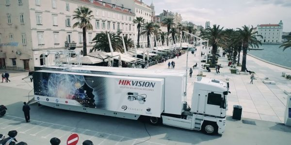 IA en un camión de Europa