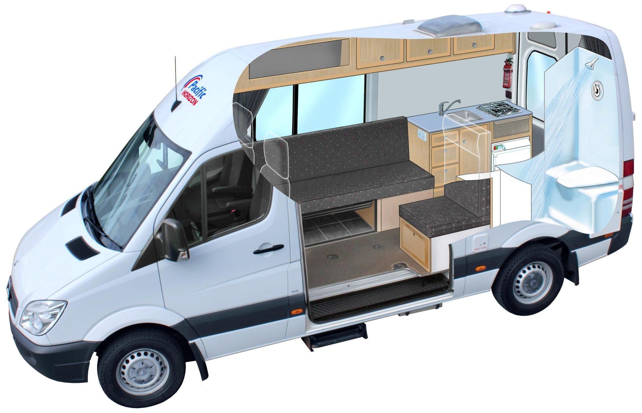 Render de una modificación de la van Ford Transit