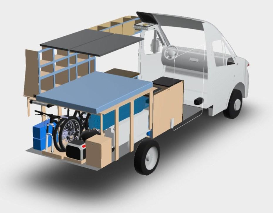 Toma xray de posible modificación de la van Ford Transit